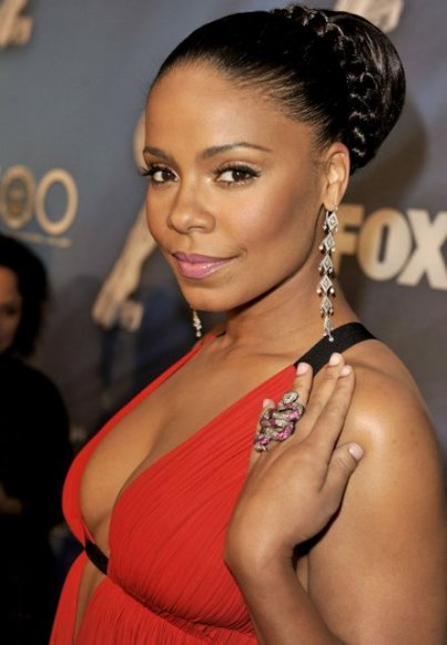 Sanaa Lathan -red dress